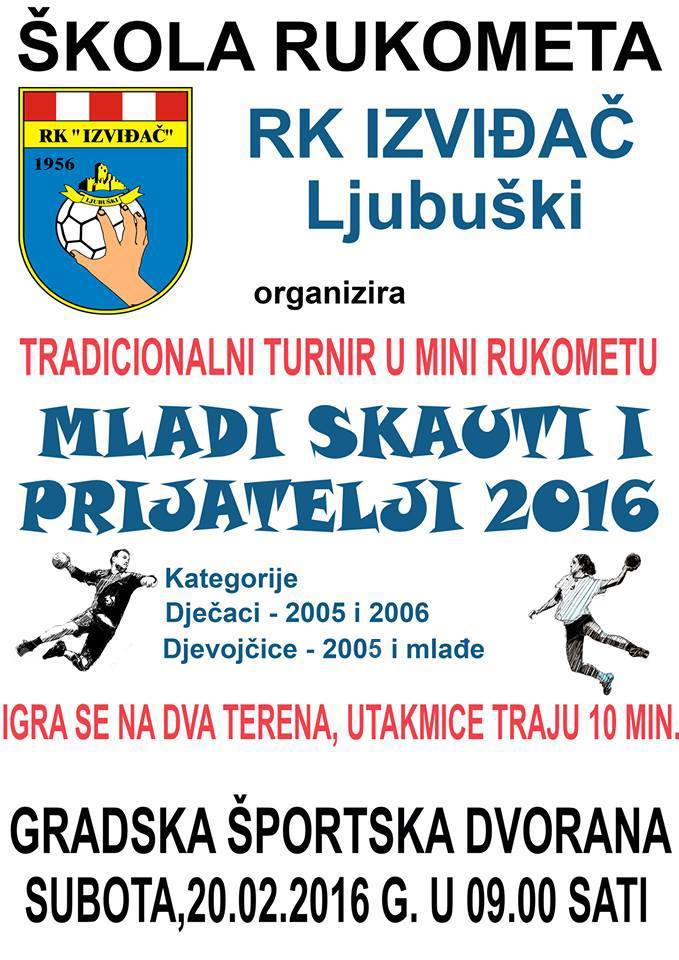 Rukometna Škola Vučići / Ljubuški (BiH), 20.02.2016